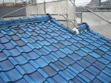 神奈川県川崎市高津区の屋根修理 コロニアル屋根リフォーム 施工前