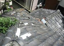 東京都町田市 瓦屋根点検 下がり棟 瓦飛散