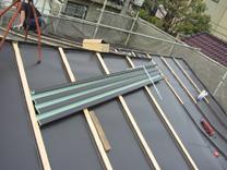 屋根工事ドブ板