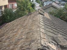 横浜市港北区 屋根葺き替え工事 瓦解体 北側 完了