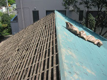 東京都町田市 屋根 北面 瓦残 完了 下地骨組み