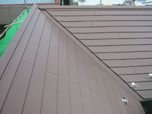 川崎市多摩区 屋根リフォーム 施工後 カバー工法 本谷 流れ 完成