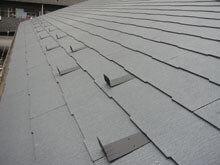 横浜市鶴見区 屋根葺き替えリフォーム 下屋根 施工後 軒先 雪止め