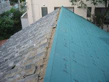 東京都町田市 屋根 南面 防水シート ルーフィング 施工