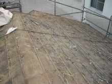 川崎市 高津区 既存瓦屋根の撤去完了 段違い