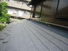 横浜市鶴見区 屋根葺き替えリフォーム 大屋根 施工後 壁取り合い