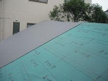 東京都町田市 屋根リフォーム 仕上材 波板 施工 北面