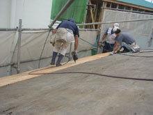 川崎市 高津区 新規屋根野地板 施工 釘打ち