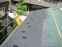 横浜市鶴見区 コロニアル 屋根材 施工 大屋根 棟