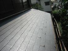 横浜市鶴見区 屋根葺き替えリフォーム 下屋根 施工後 全体