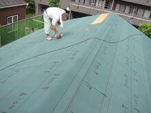 横浜市鶴見区 ルーフィング設置 大屋根 全面完了
