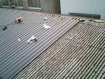 神奈川県 川崎市 中原区 屋根工事 屋根リフォーム 工場 スレート屋根 施工中 ケラバ 棟役物