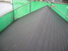 川崎市多摩区 屋根リフォーム 防水紙 全面貼り 完成 棟