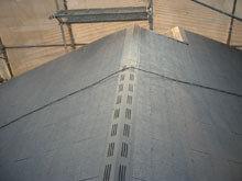 川崎市 コロニアル屋根リフォーム 施工後 換気棟