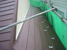 川崎市多摩区 屋根リフォーム 施工後 カバー工法 下屋 雨押え 完成