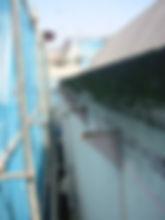 川崎市 宮前区 屋根工事 雨樋工事 施工中 軒樋 撤去 水糸