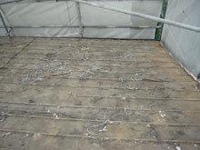 川崎市 高津区 既存瓦屋根の撤去完了 片流れ