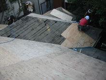 東京都町田市 屋根 南面 下地 野地板 貼り