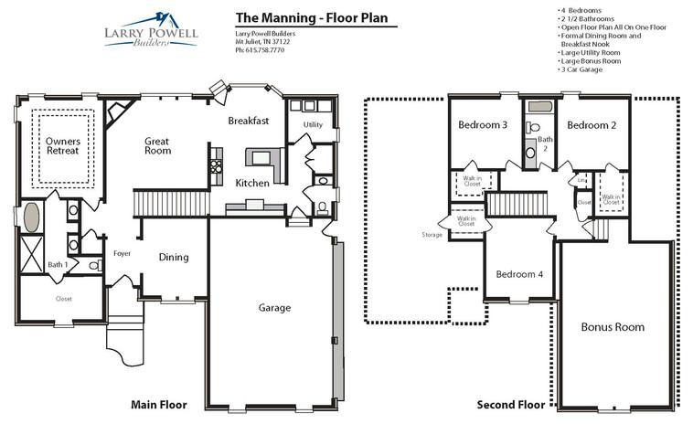 The Manning Floor Plan