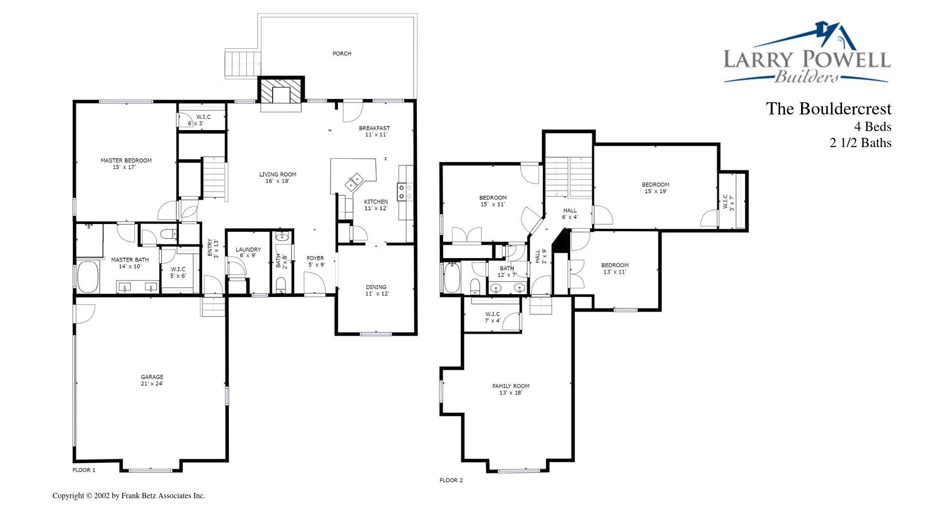 The Bouldercrest Floor Plan