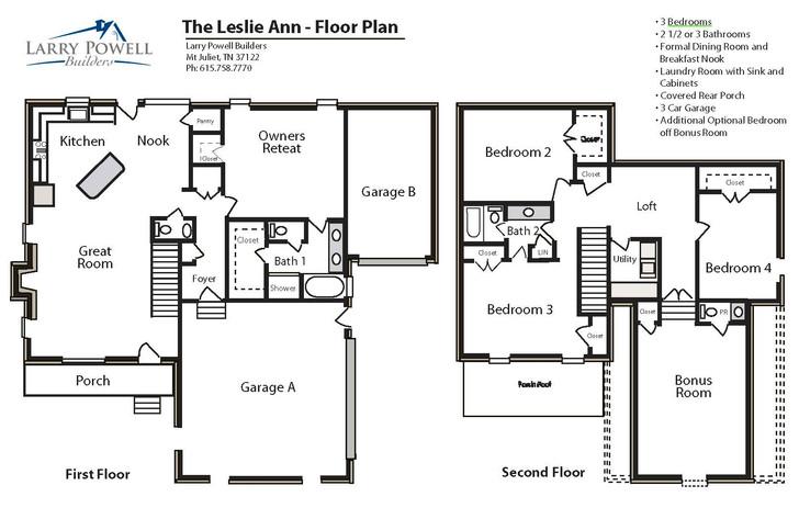 The Leslie Ann Floor Plan