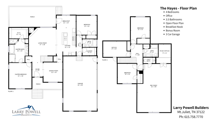 Hayes Floorplan