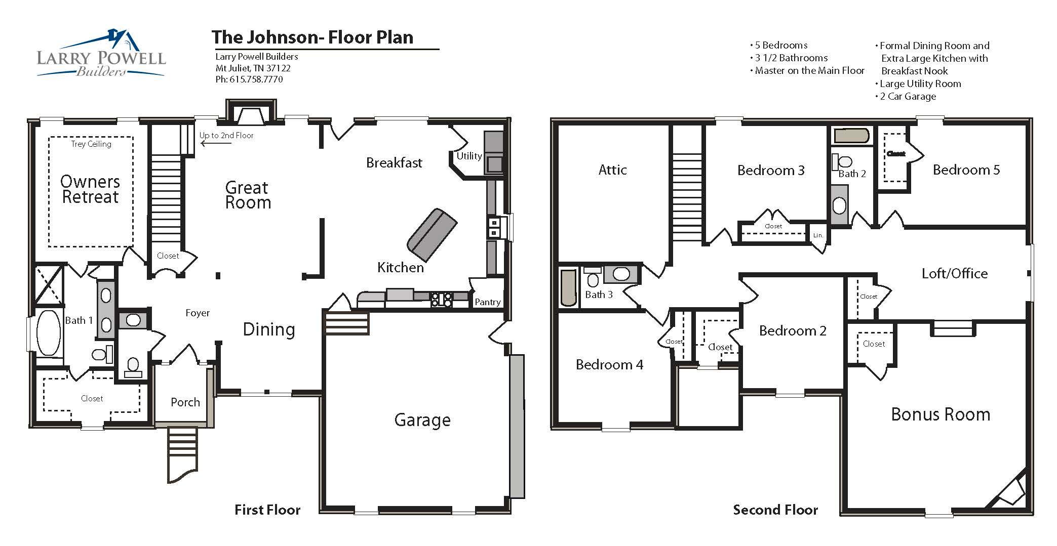 The Johnson Floor Plan