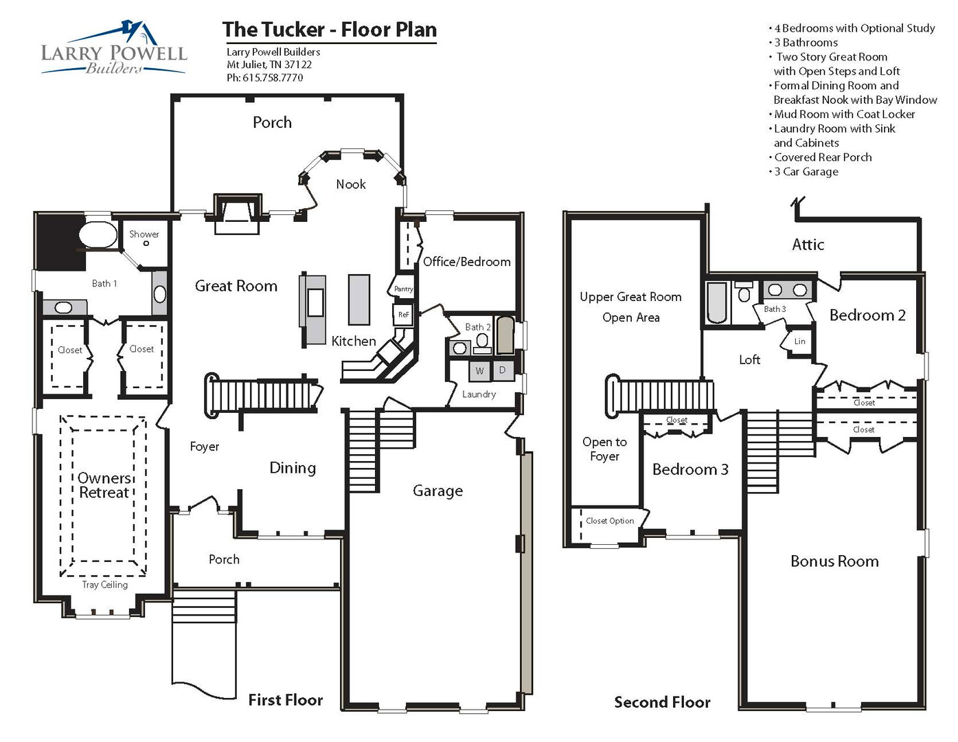 The Tucker Floor Plan