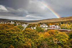 Rainbow over East Side of Jim Thorpe