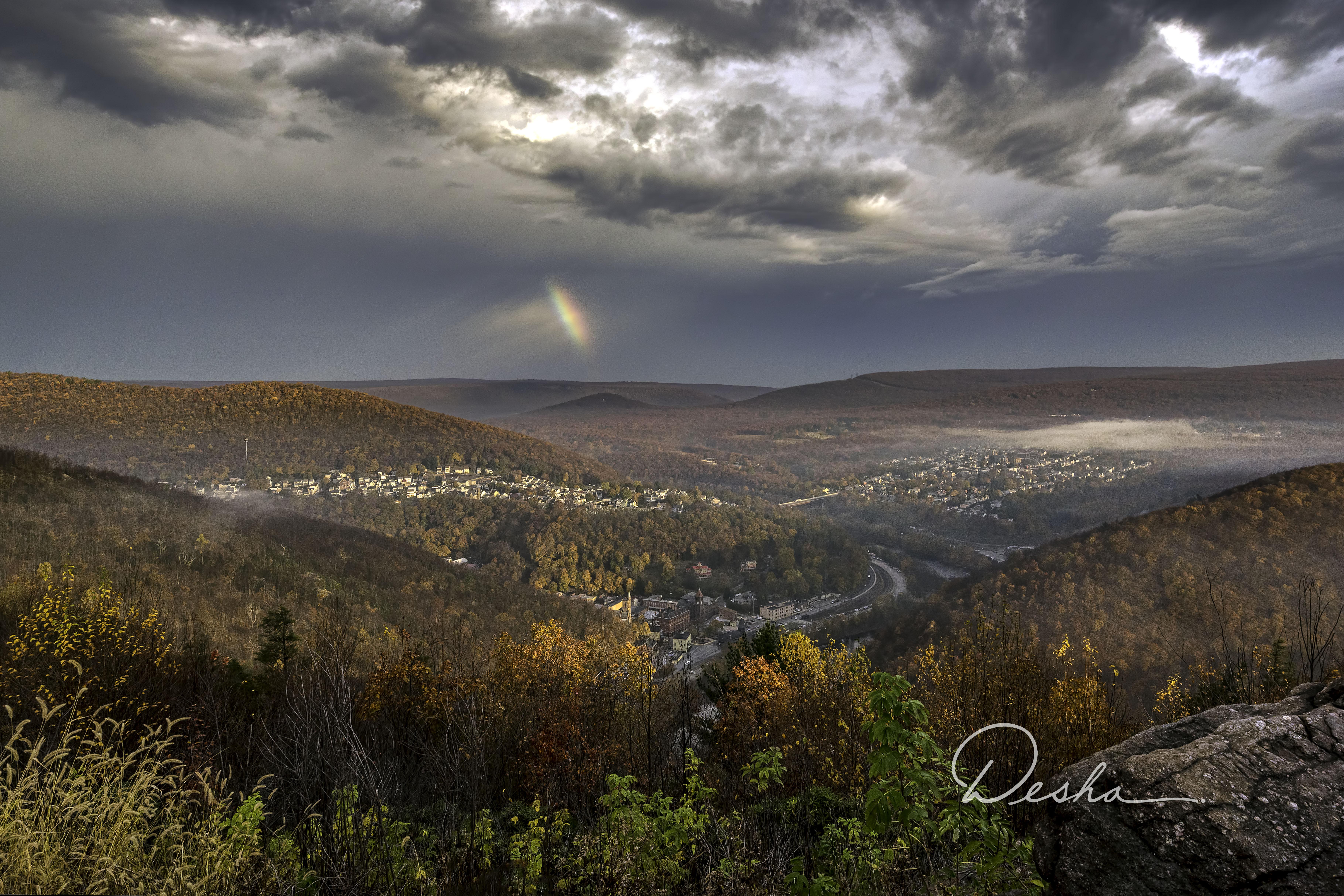 Rainbow over Jim Thorpe