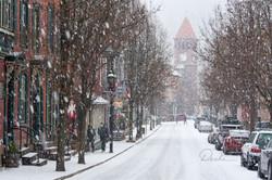 Snowy Downtown Jim Thorpe
