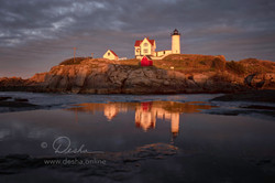 Nubble in the Evening
