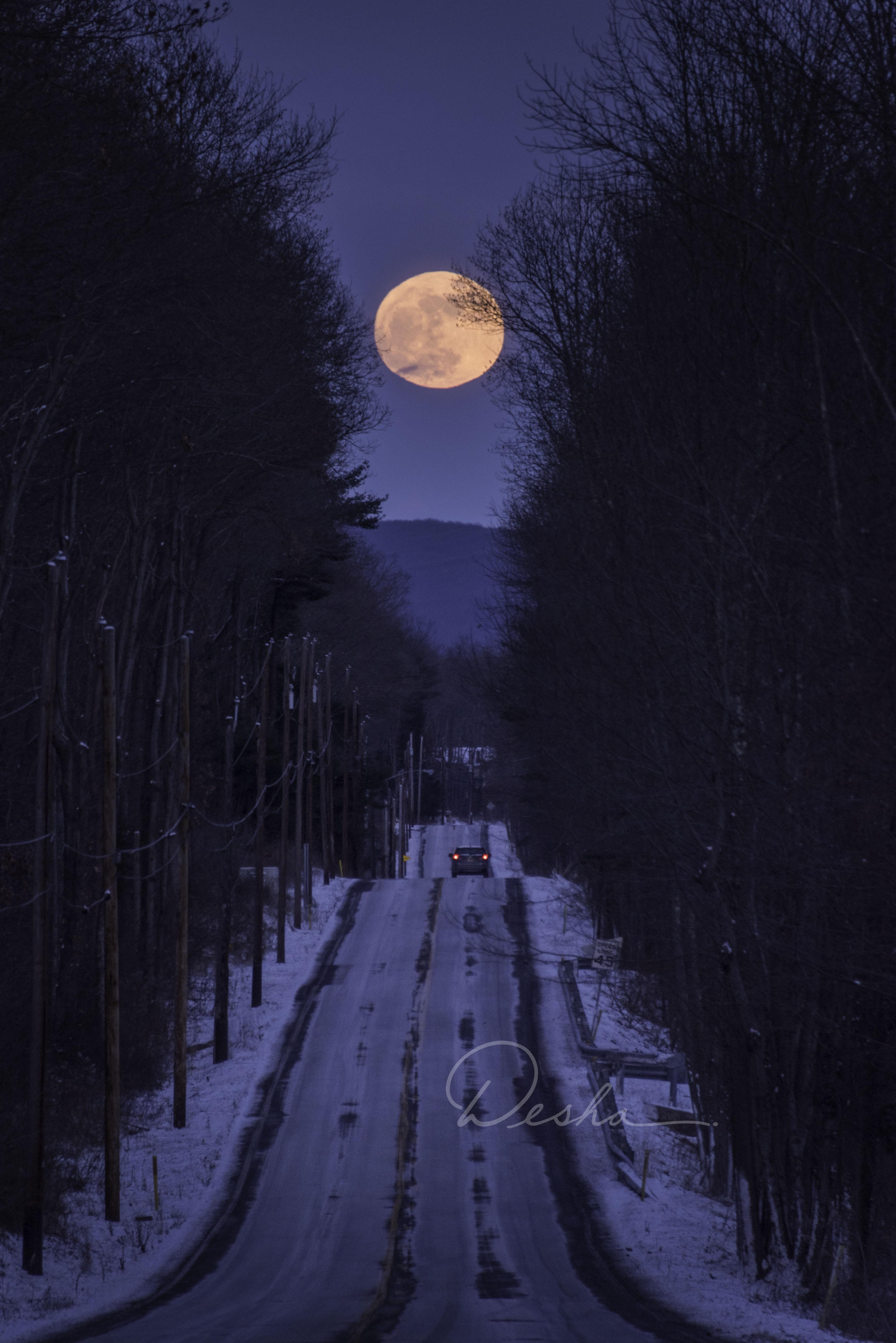 Moonrise Over Lentz Trail