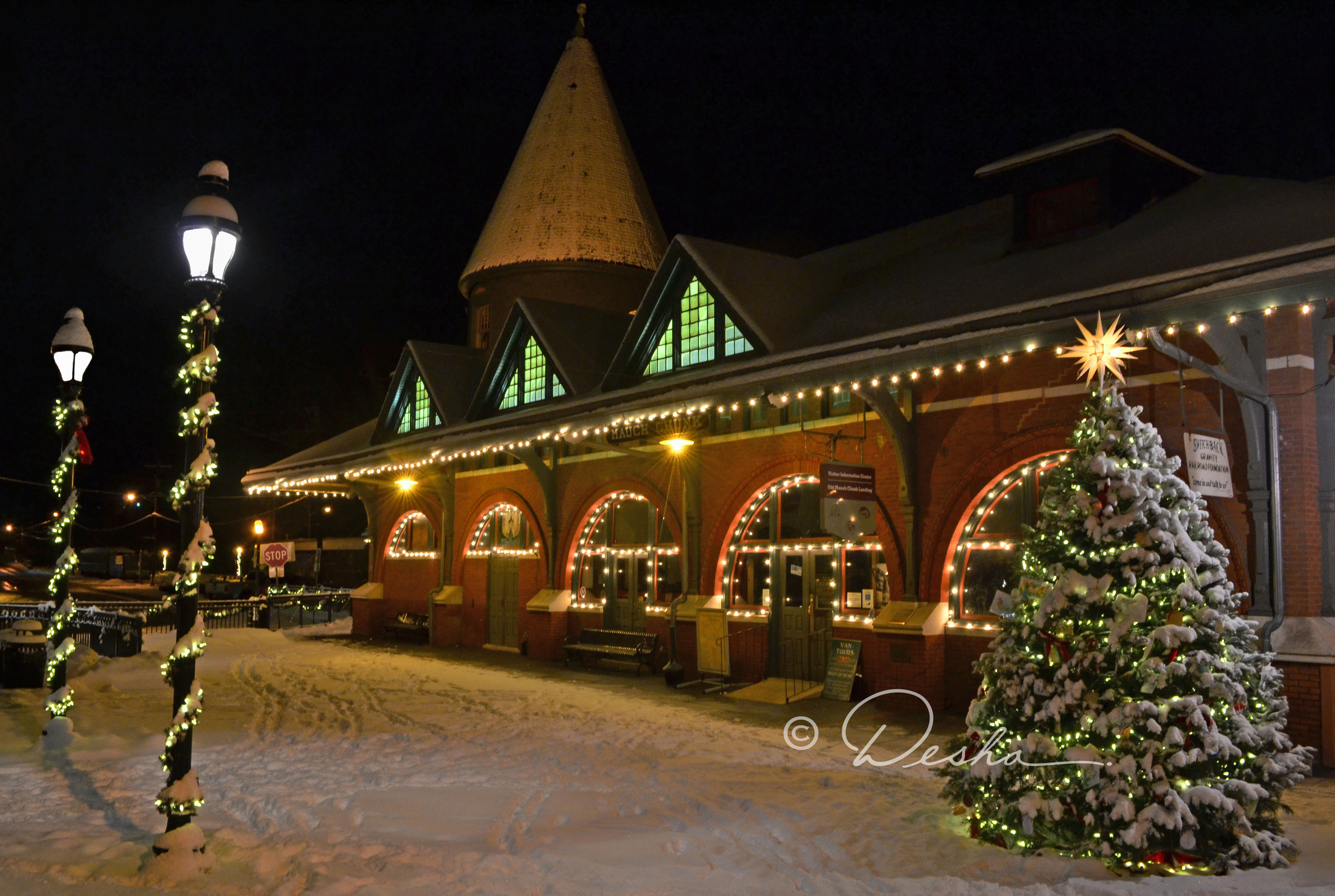Train Station at Christmastime