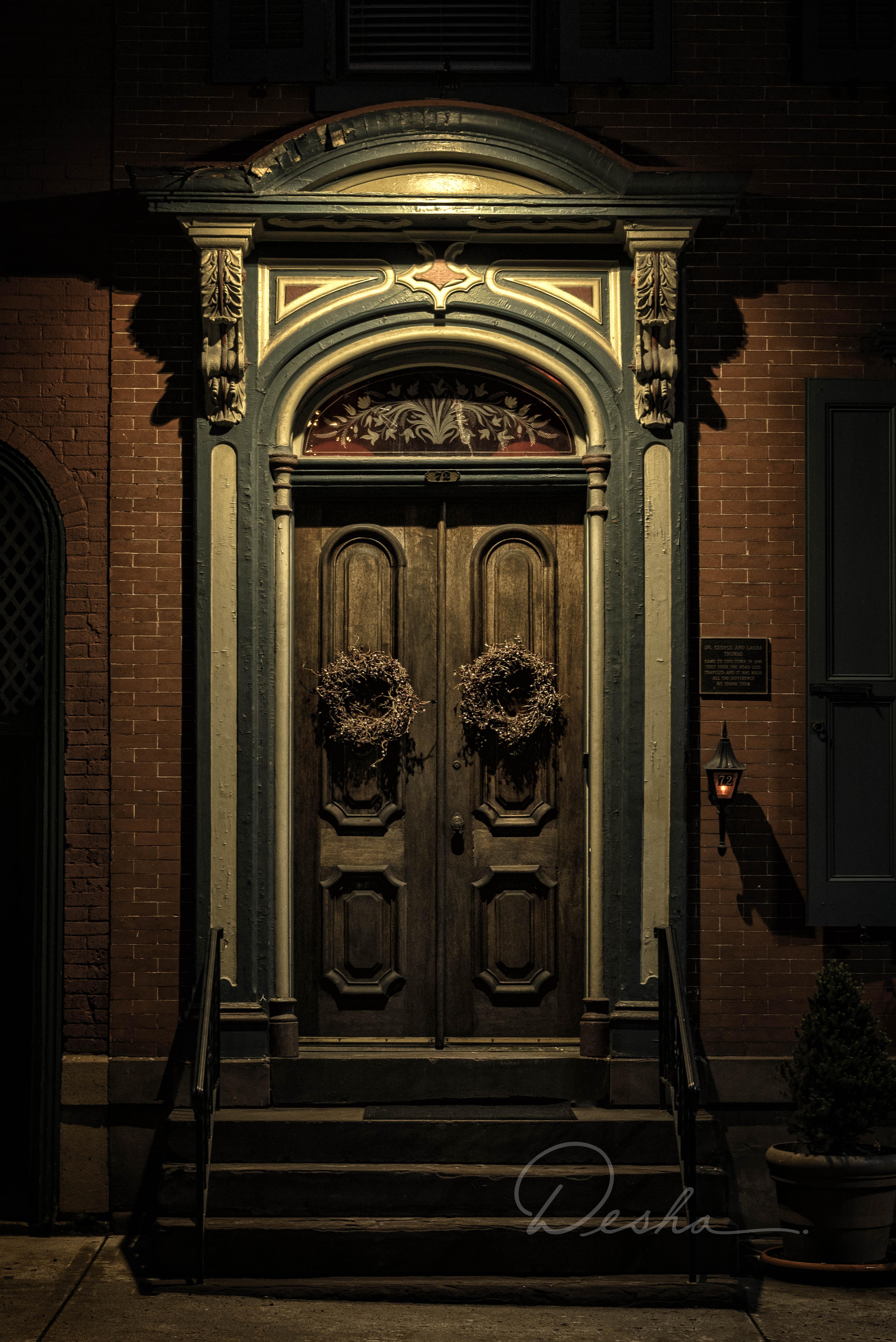 Dr. Thomas' Door