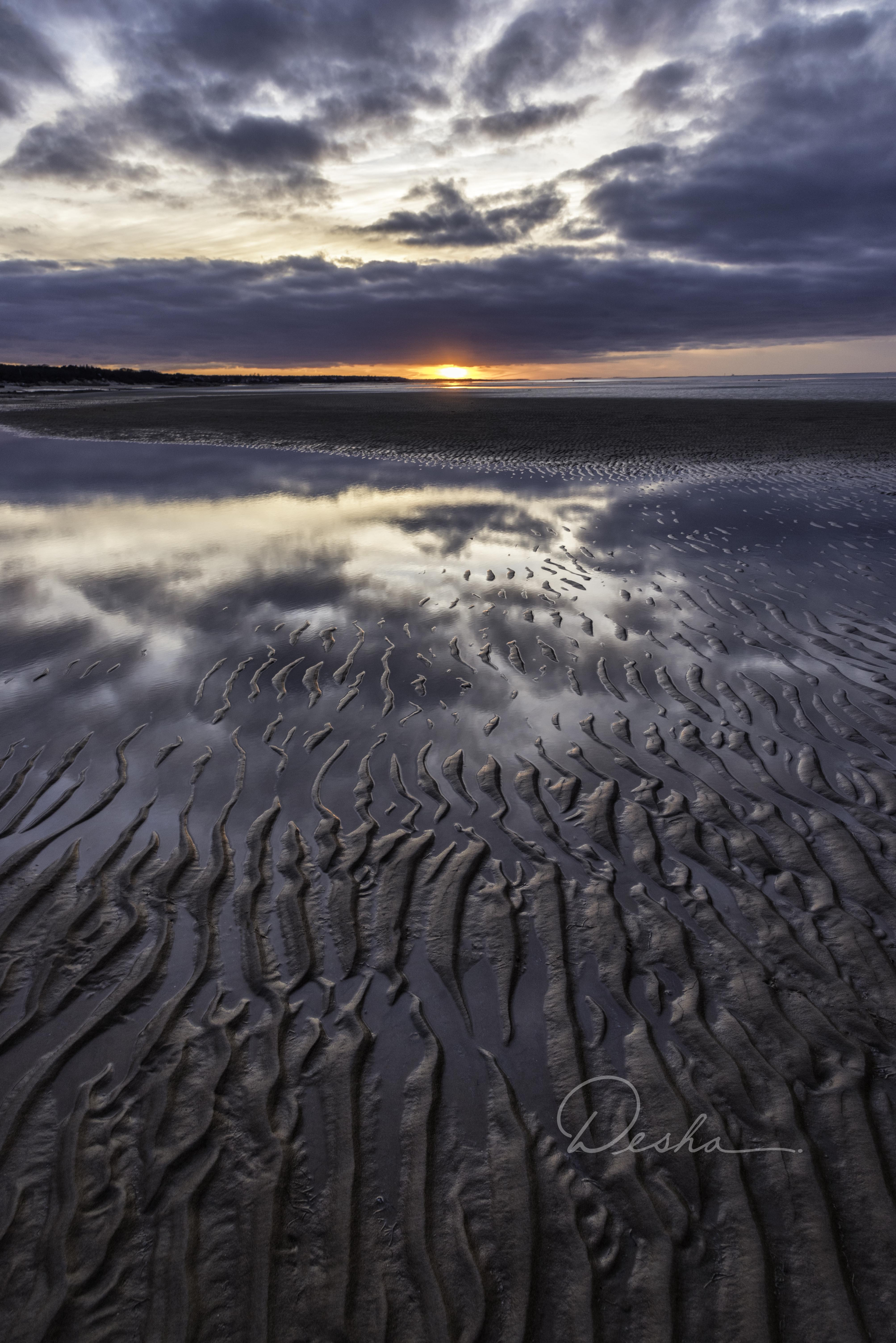 Tidal Flats in Brewster, Cape Cod MA