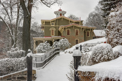 Snowy Asa Packer Mansion