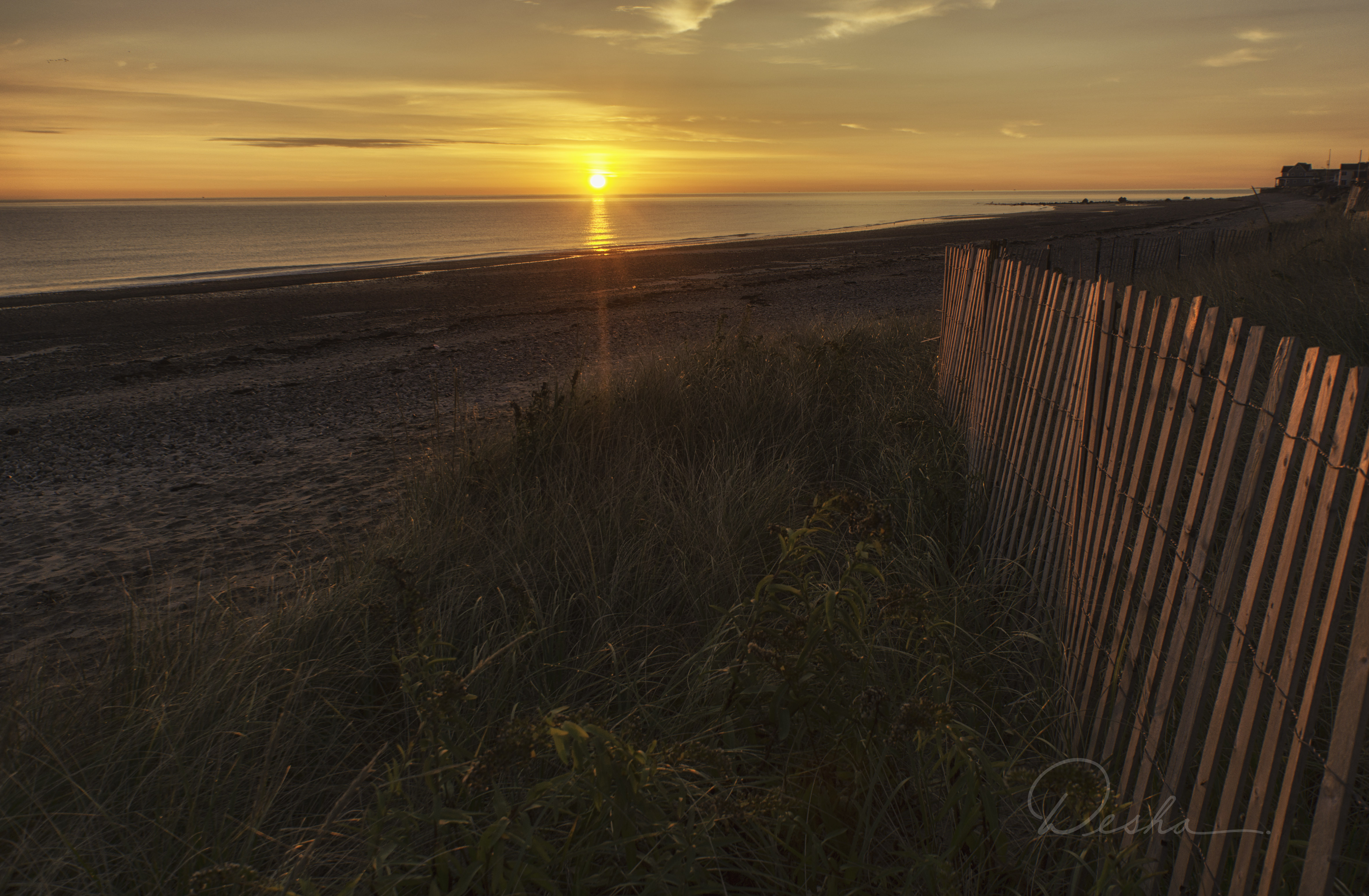 Sunrise at Rexhame Beach
