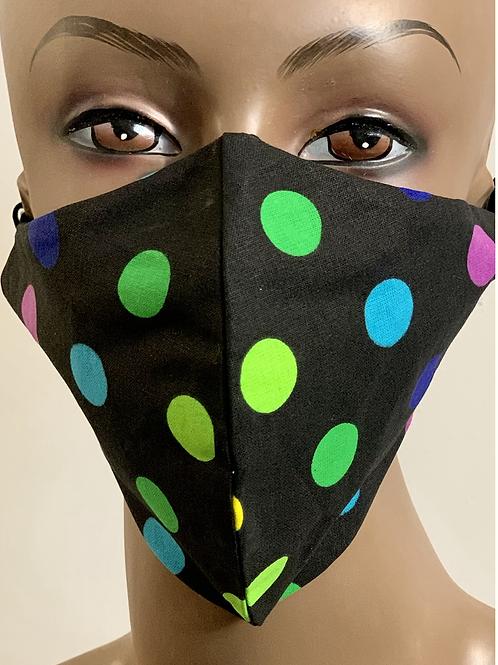 Multi Color Poka Dot Mask