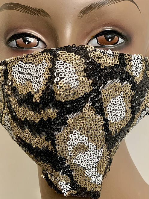Sequence Cheetah Bling Mask