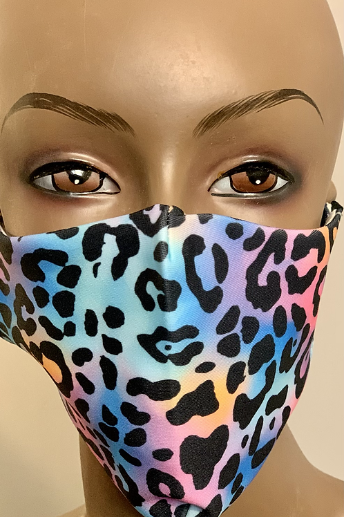Colorful Cheetah Print Mask