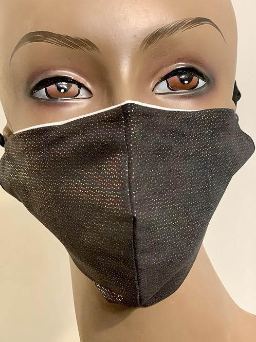 Black Rainbow Accent Mask