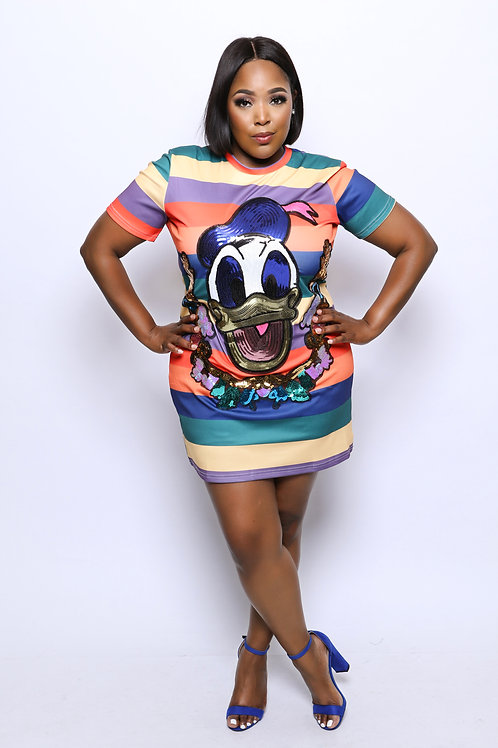 Colorful Daffy Duck Dress