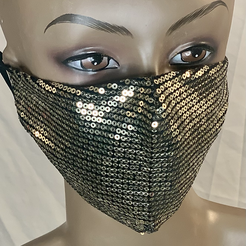 Gold bling sequence mask