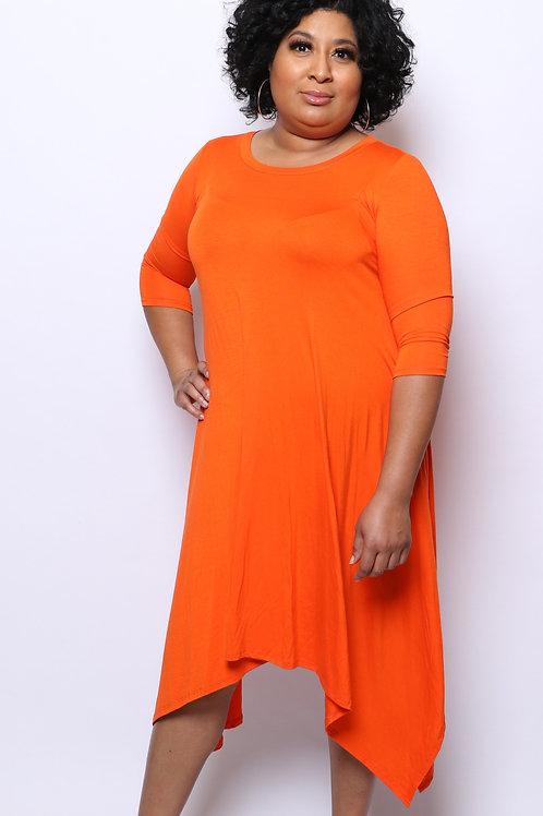 Long Sleeve Free Dress with Pockets
