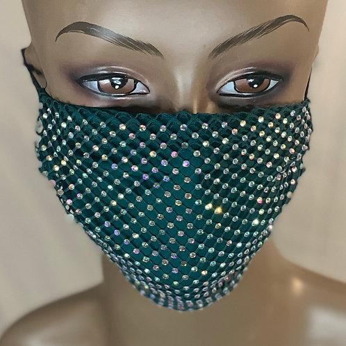 Green bling mask