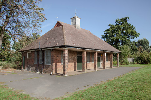 The Woodfield pavilion before the restoration