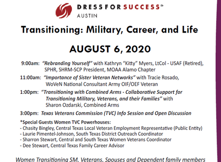 Women Veterans - Dress For Success - Online Event