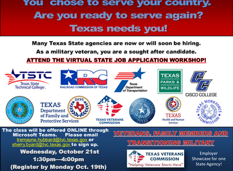 Texas Agency Employment Application Workshop & Employer Showcase