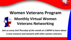 Women Veteran Networking - Monthly Online